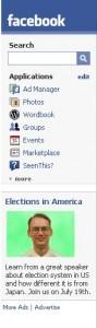 irrelevant Facebook ad