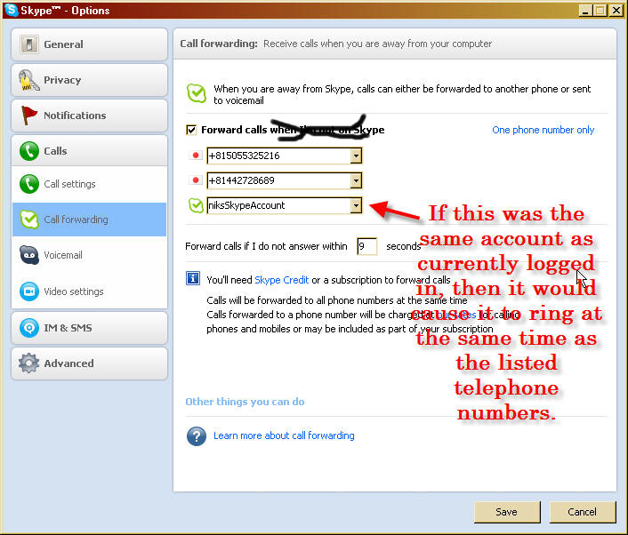 Skype Forwarding to Skype Idea