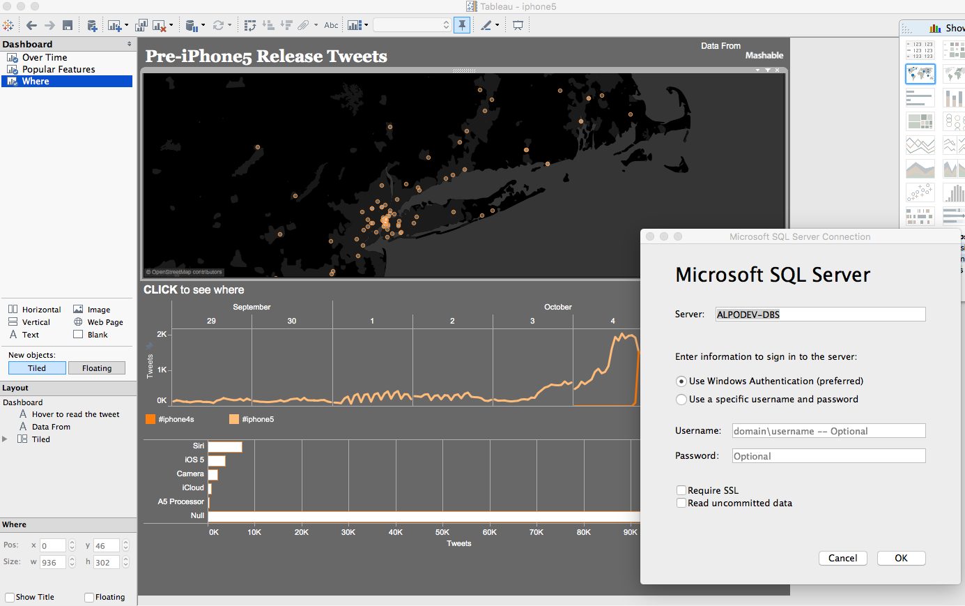 Tableau iPhone Release Dashboard